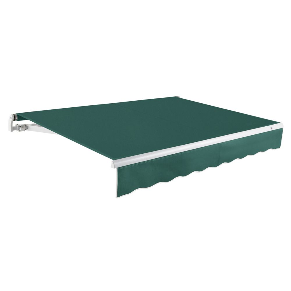 20 Feet MAUI (10 Feet Projection) - Motorized Retractable Awning (Right Side Motor) - Forest