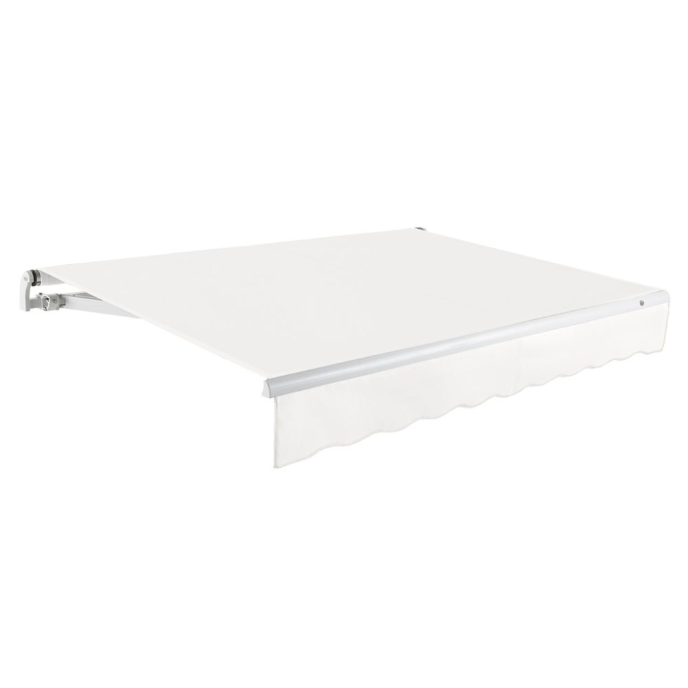 20 Feet MAUI (10 Feet Projection) - Motorized Retractable Awning (Right Side Motor) - Off-White