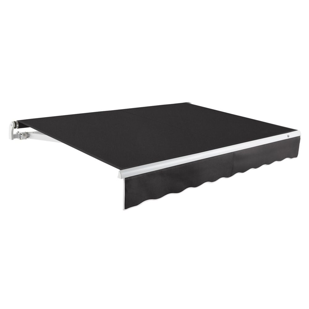 Maui 8 ft. Motorized Retractable Awning (Right Side Motor) (7 ft. Projection) in Black