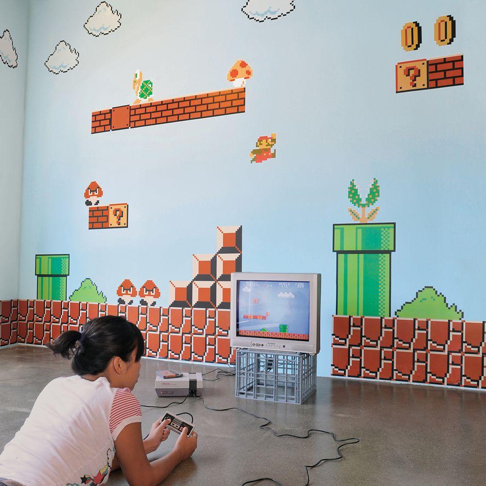 Blik Les Autocollants Muraux De Super Mario Bros Re Stik