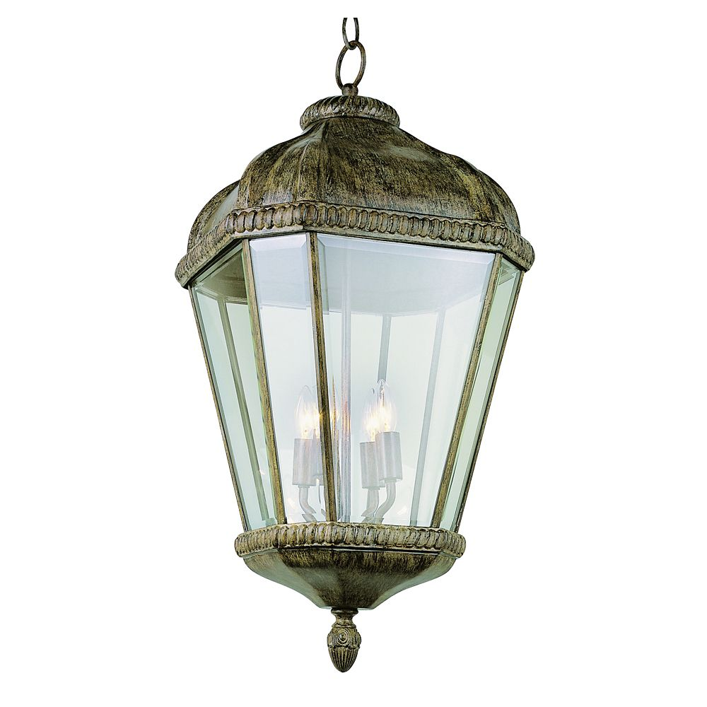 Bel Air Lighting Patina Beveled Frame Hanging Light - Large