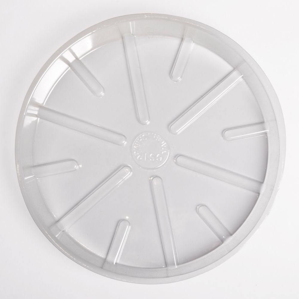 4 Inch Basic Clear Poly Saucer