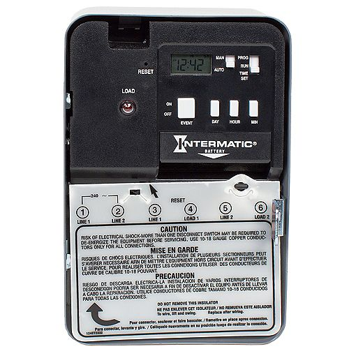 Intermatic 30 Amp 240-Volt DPST Electronic Water Heater Time Switch