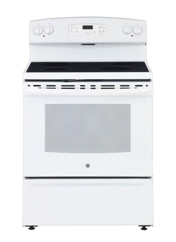 Home Depot Foyer Electrique Blanc : Ge cuisinière blanc électrique autonettoyante de po