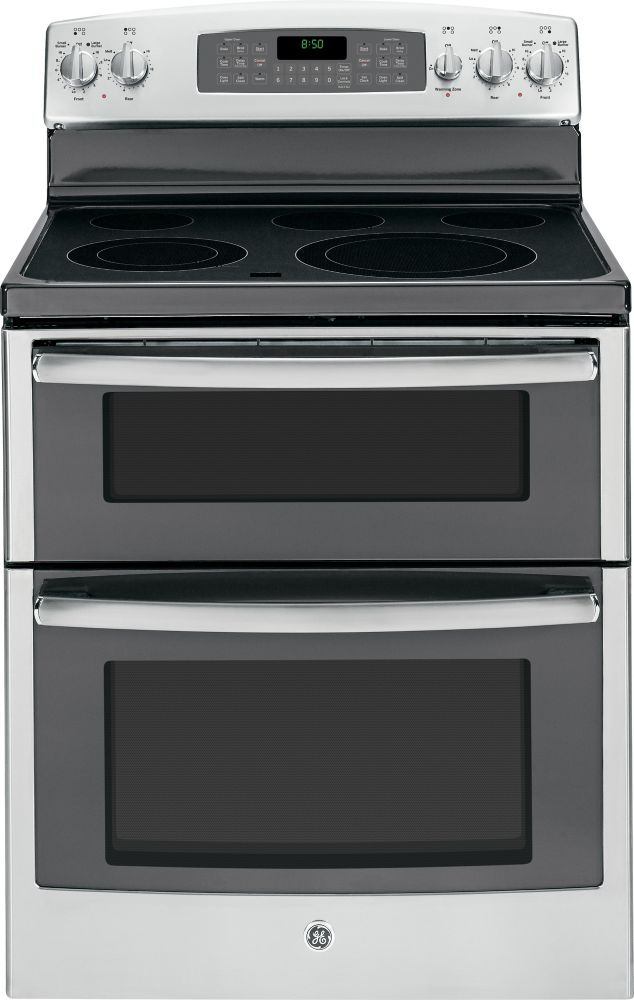 6.6 cu. ft. Free-Standing Self-Cleaning Electric Double Oven Range in Stainless Steel