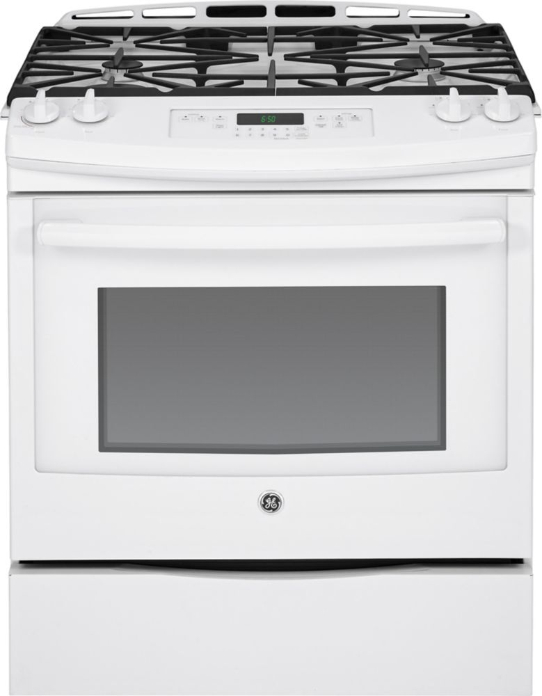 5.4 cu. ft. 30-inch Slide-In Self-Cleaning Gas Range in White