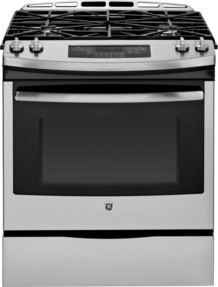 5.4 cu. ft. 30-inch Slide-In Self-Cleaning Gas Range in Stainless Steel