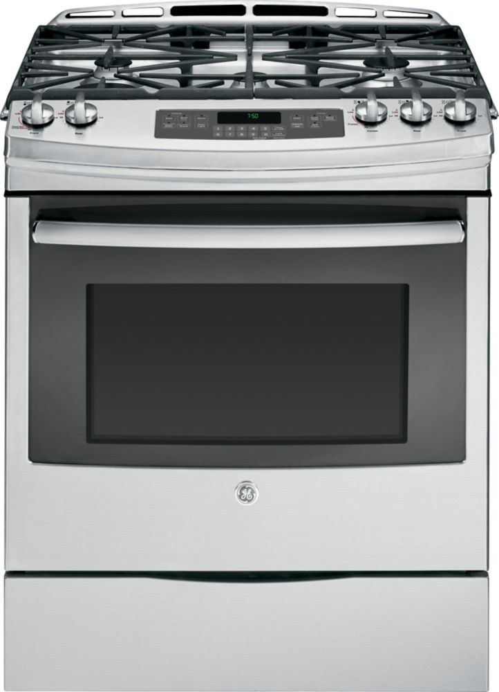 5.3 cu. ft. 30-inch Slide-In Self-Cleaning Gas Convection Range in Stainless Steel