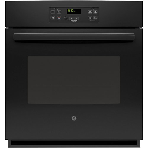 27-inch Single Electric Wall Oven in Black