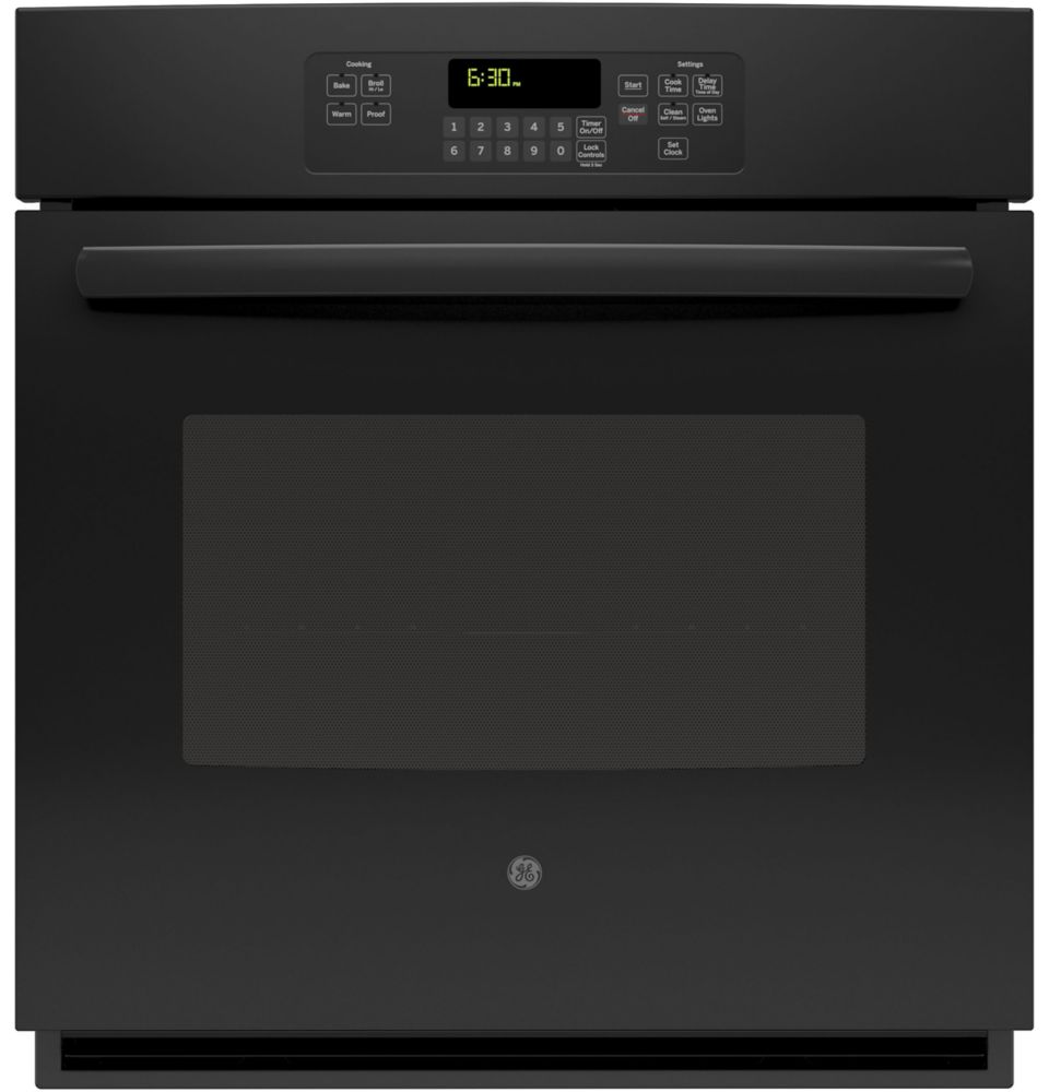 4.3 cu. ft. 27-inch Electric Self-Cleaning Single Wall Oven in Black