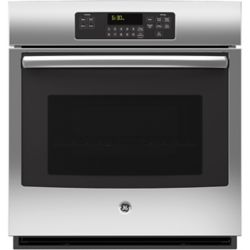 GE 27-inch 4.3 cu. Ft. Single Electric Wall Oven with Self-Cleaning in Stainless Steel