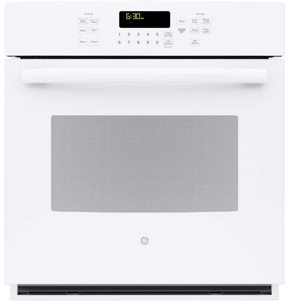 4.3 cu. ft. 27-inch Electric Convection Self-Cleaning Single Wall Oven in White