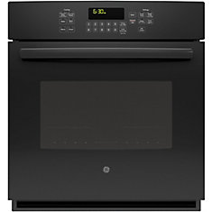 4.3 cu. ft. 27-inch Electric Convection Self-Cleaning Single Wall Oven in Black