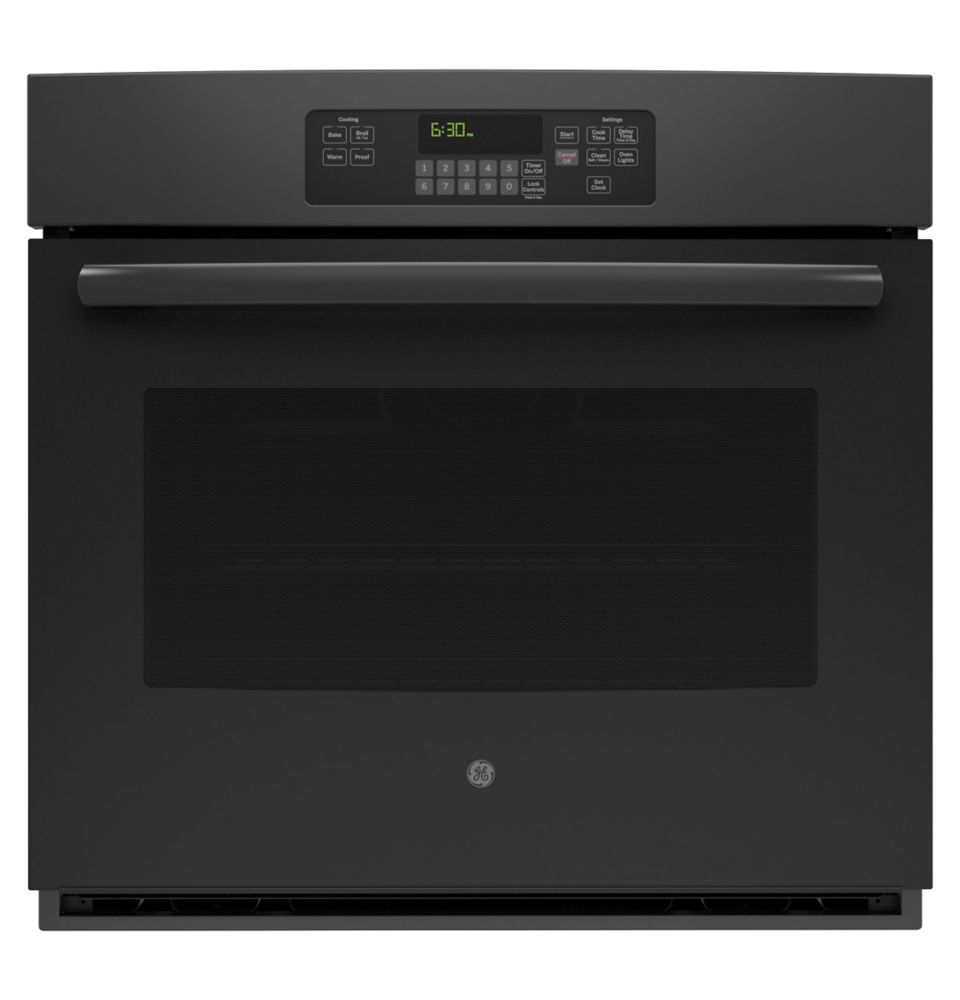 5.0 cu. ft. 30-inch Electric Self-Cleaning Single Wall Oven in Black