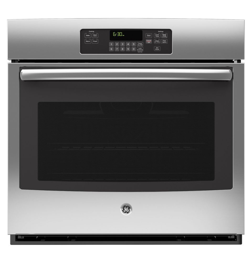 GE 5.0 cu. ft. 30-inch Electric Self-Cleaning Single Wall Oven in Stainless Steel