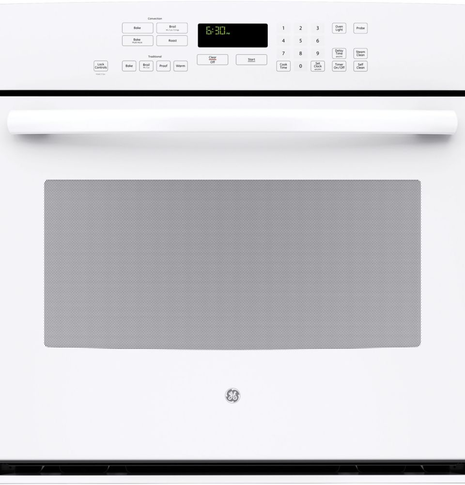 5.0 cu. ft. 30-inch Electric Convection Self-Cleaning Single Wall Oven in White