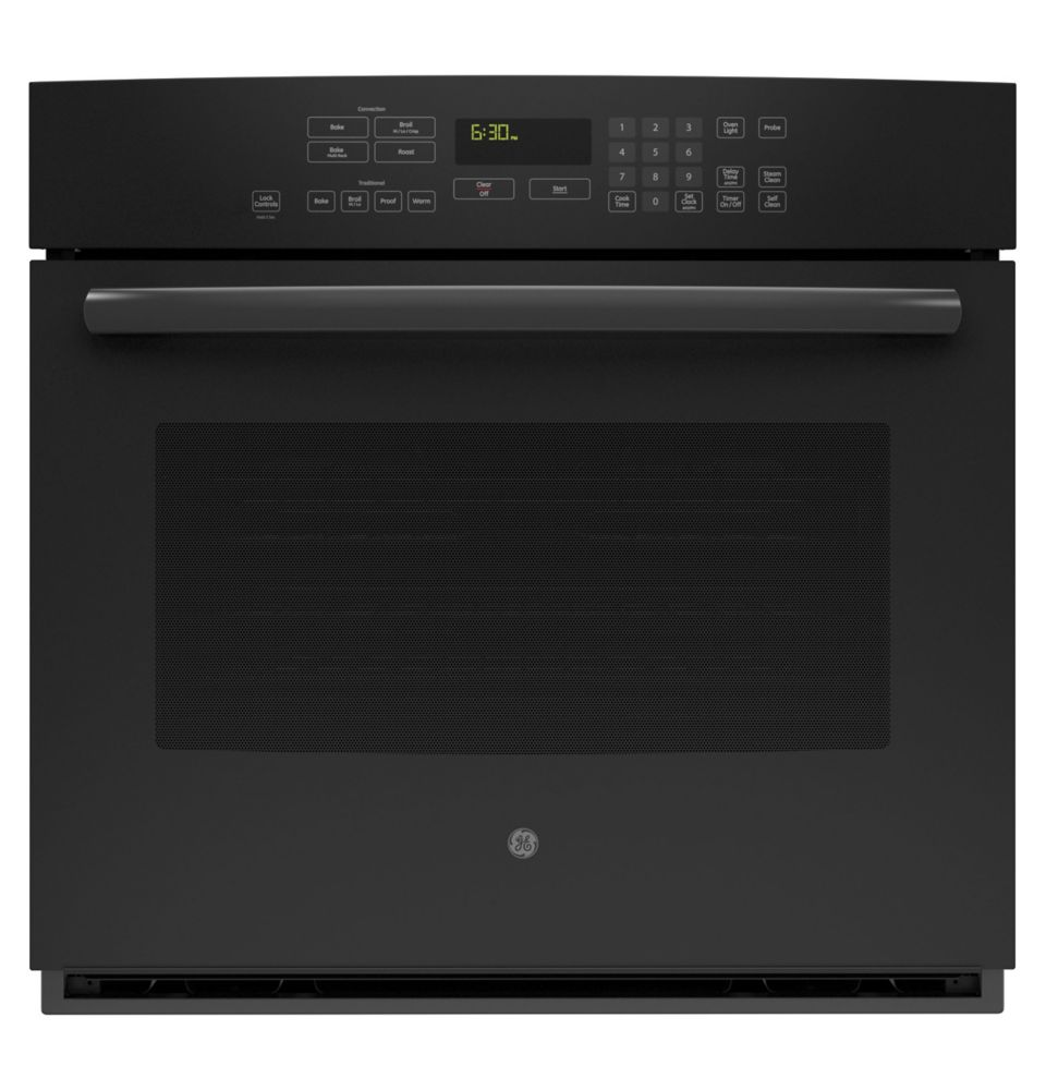 5.0 cu. ft. 30-inch Electric Convection Self-Cleaning Single Wall Oven in Black