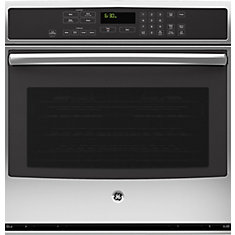 Single Electric Wall Oven Self Cleaning with True Convection in Stainless Steel