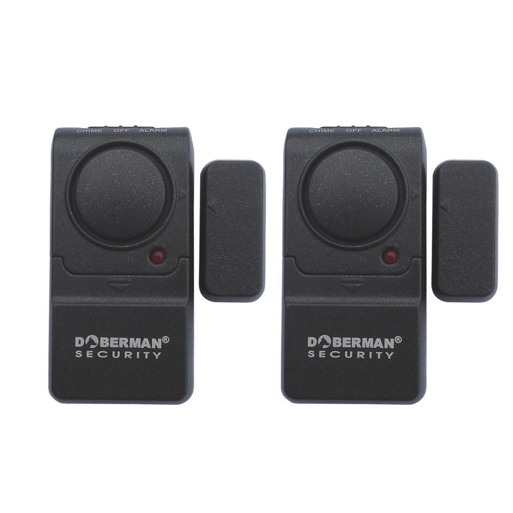 Doberman Security Mini Entry Defender W/ Chime 2 Pack