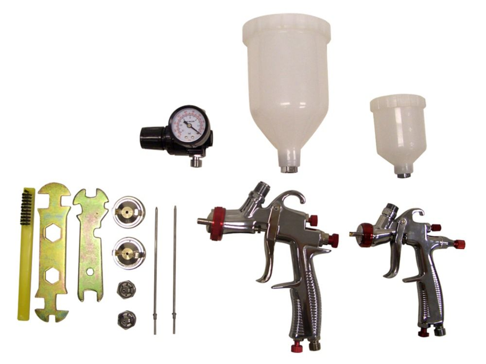LVLP (Low Volume Low Pressure) Gravity Feed Spray Gun Kit