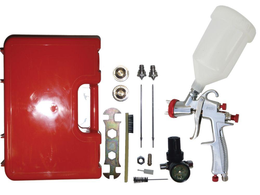 SP-33000K LVLP (Low Volume Low Pressure) à alimentation par gravité Kit pistolet