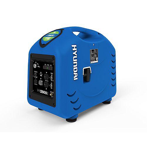 Hyundai 2600W Portable Gas-Powered Inverter Generator with Electric Start