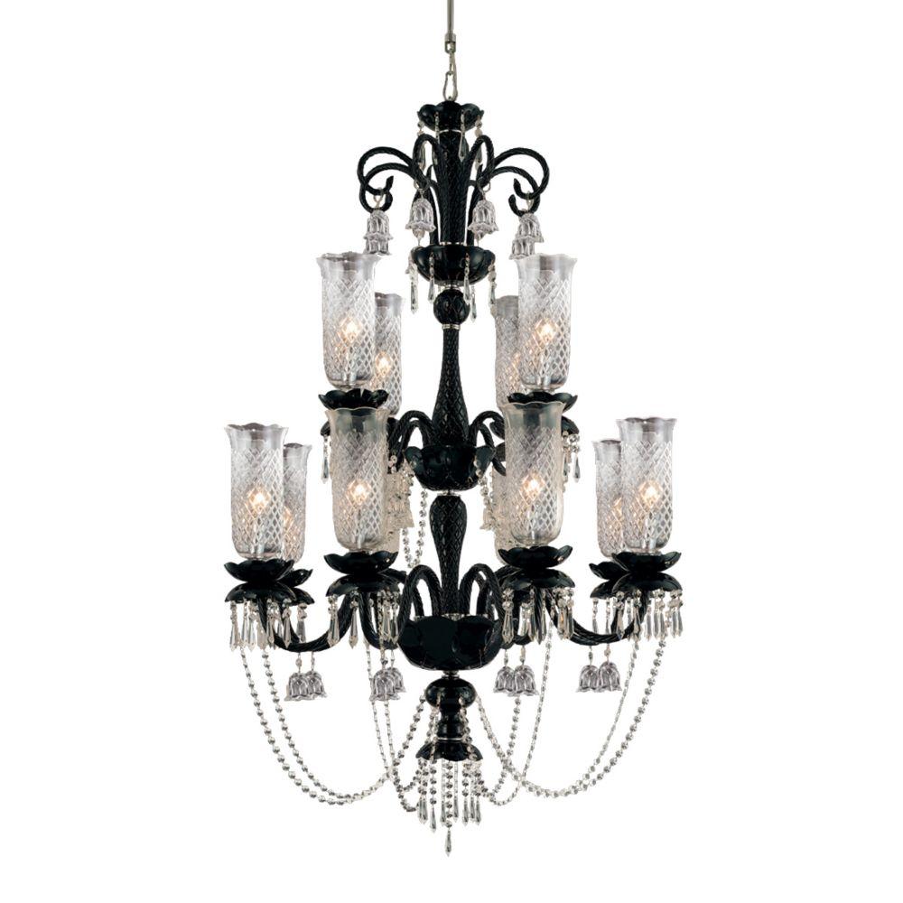 Eurofase Mariah Collection 12-Light Black Chandelier