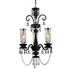 Eurofase Mariah Collection 3-Light Black Chandelier
