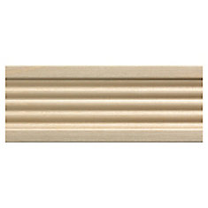 White Hardwood Fluted Casing Moulding - 3/8 x 2-1/4 x 84 Inches