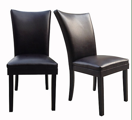 Parsons Leather Dining Chair 2 Pack