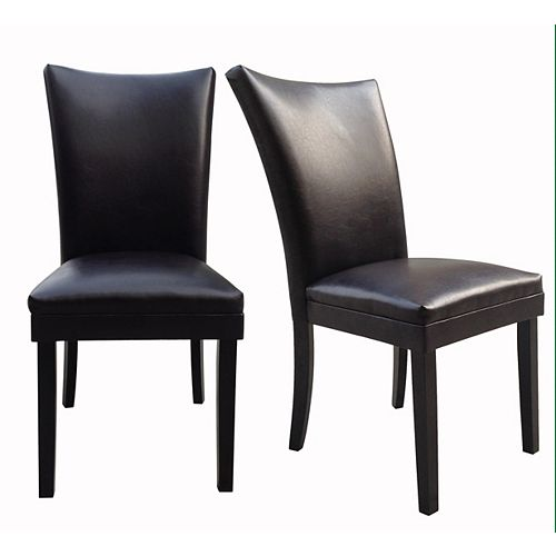 Sofya Parsons Leather Dining Chair (2-Pack)