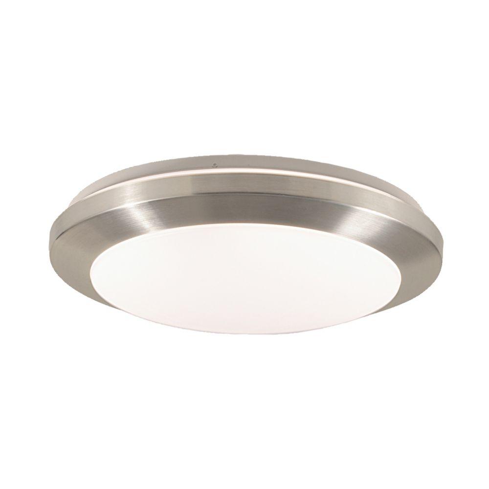 Eurofase Lucid Collection 1-Light Satin Nickel Flush Mount
