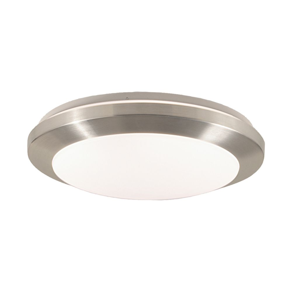 Eurofase Lucid Collection 1-Light Satin Nickel/Chrome Flush Mount