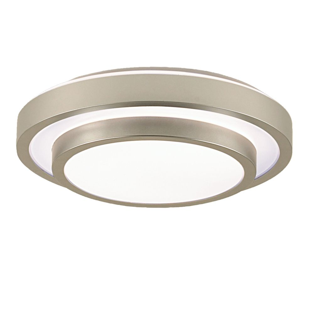 Eurofase Noire Collection 1 Light Silver Flush Mount The Home Depot Canada