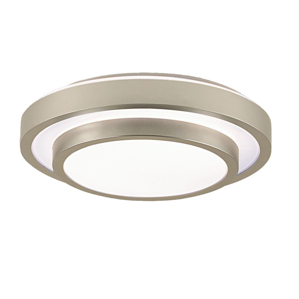Noire Collection 1-Light Silver Flush Mount