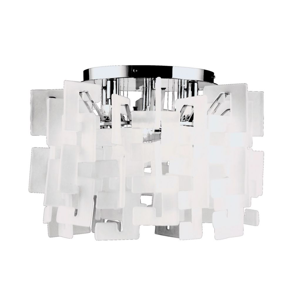 Numero Collection 8-Light Chrome Flush Mount 14553-011 Canada Discount