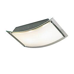 Eurofase Sleek Collection 2-Light Chrome Flush Mount