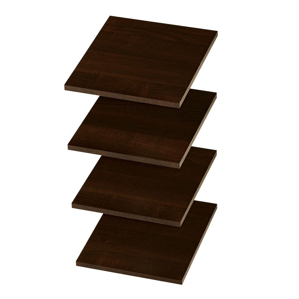 12 Inch Shelves (4 pack) - Espresso