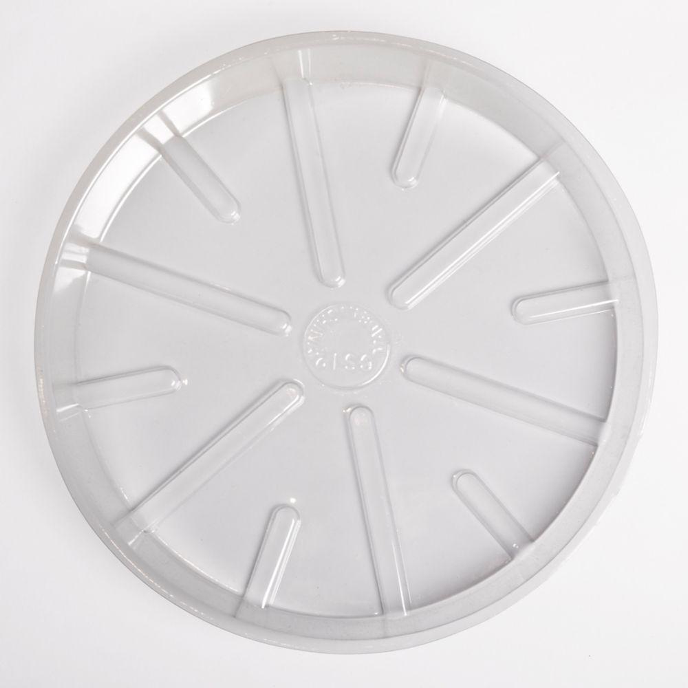 Soucoupe  de base en plastique transparent 12 po