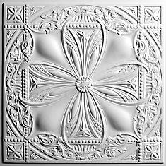 Avalon White Ceiling Tile, 2 Feet x 2 Feet Lay-in or Glue up