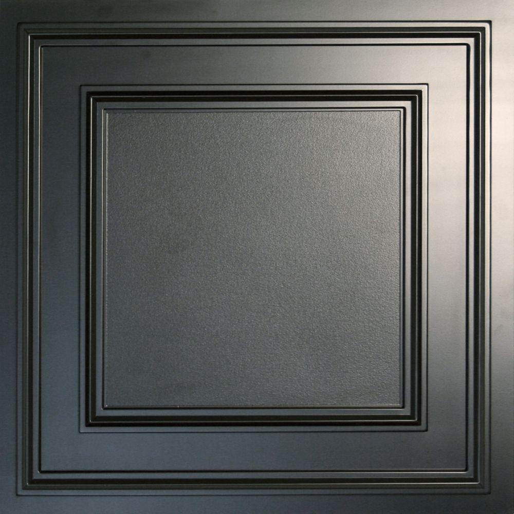 Cambridge Black Ceiling Tile, 2 Feet x 2 Feet Lay-in or Glue up