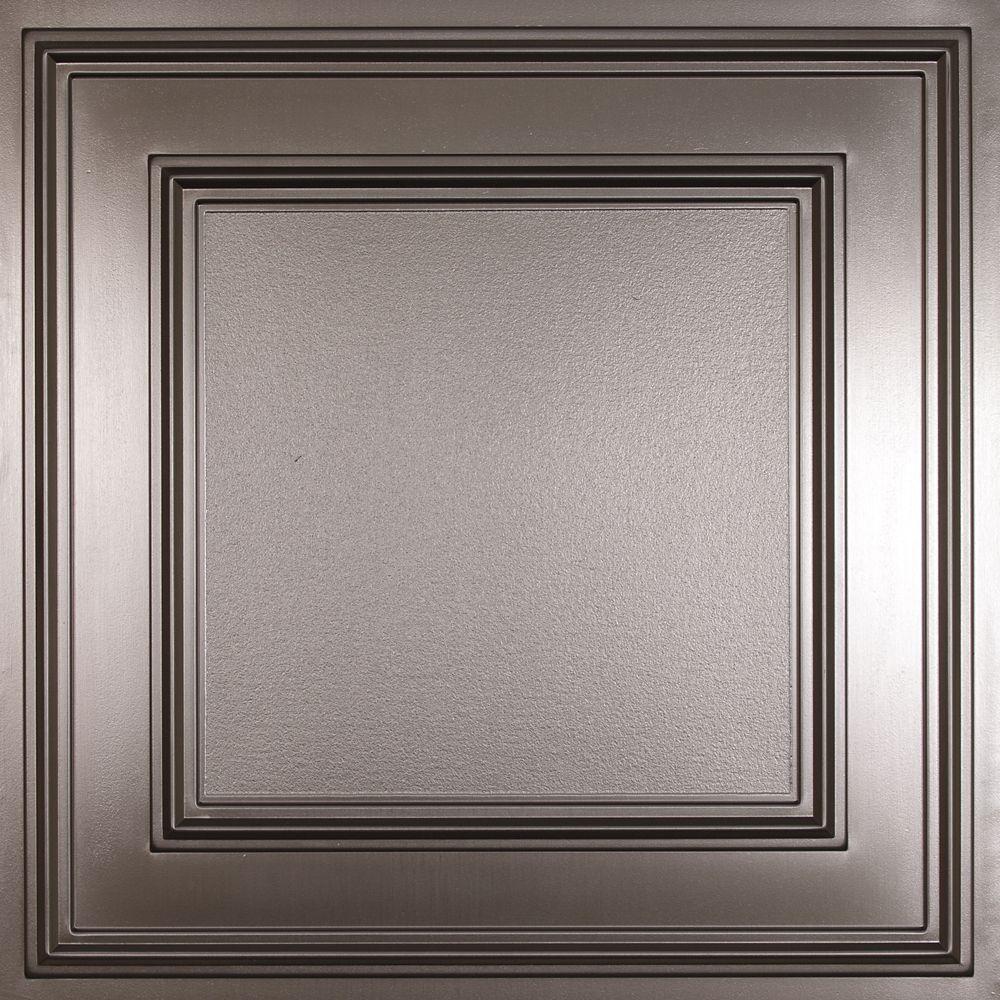 Cambridge Faux Tin Ceiling Tile, 2 Feet x 2 Feet Lay-in or Glue up