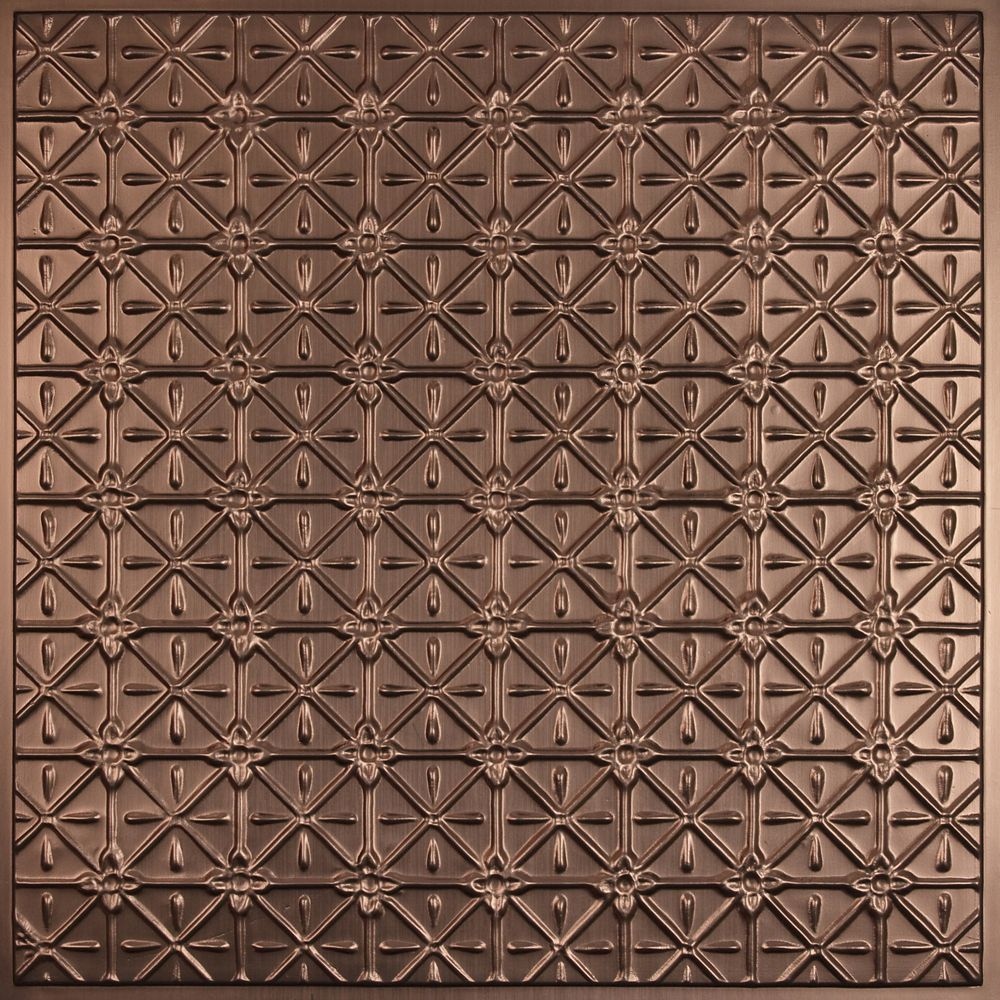 Ceilume Continental Faux Bronze Ceiling Tile 2 Feet X 2