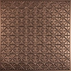 Ceilume Continental Faux Bronze Ceiling Tile, 2 Feet x 2 Feet Lay-in or Glue up