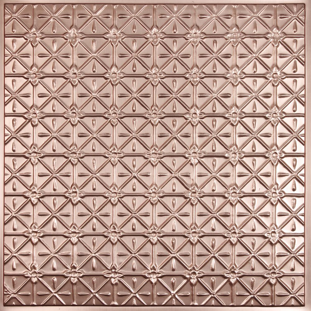 Continental Faux Copper Ceiling Tile, 2 Feet x 2 Feet Lay-in or Glue up