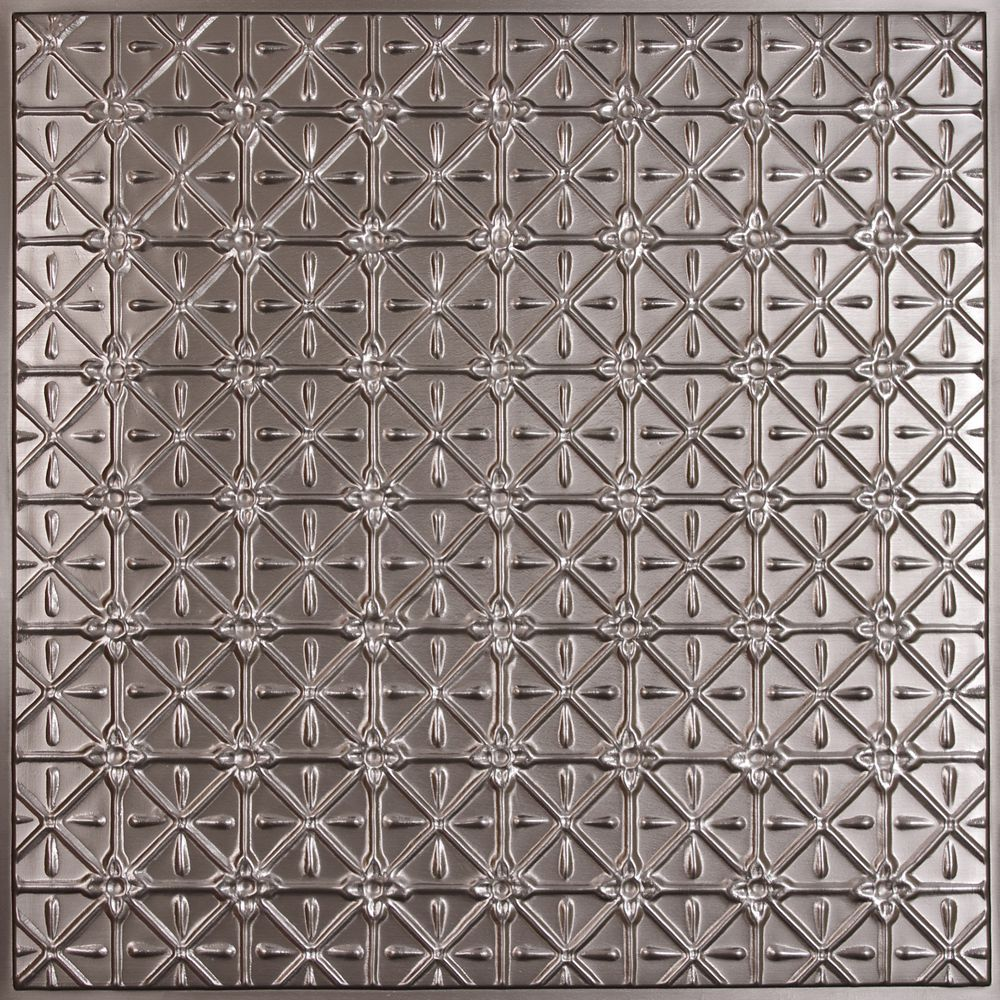 Ceilume Continental Faux Tin Ceiling Tile 2 Feet x 2 Feet