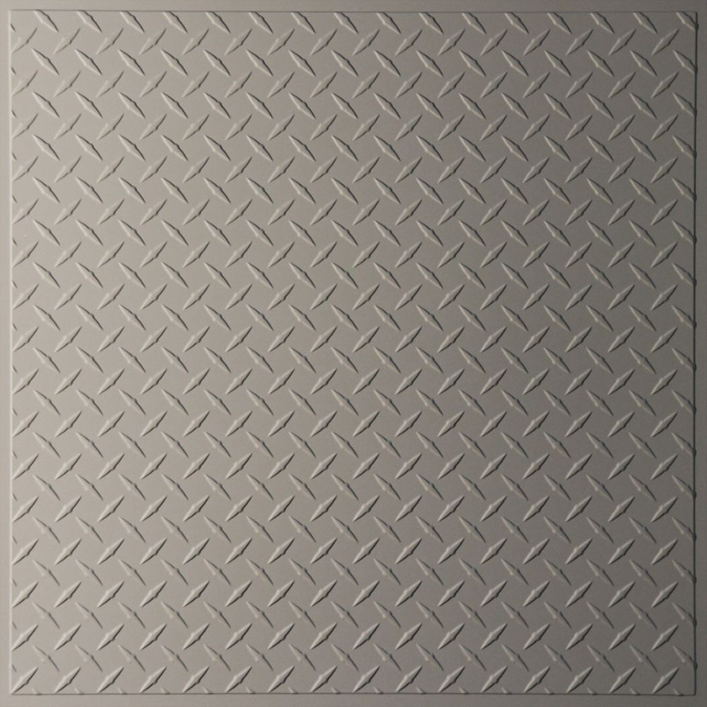 Diamond Plate Latte Ceiling Tile, 2 Feet x 2 Feet Lay-in or Glue up V3-DIAMND-22LAO Canada Discount