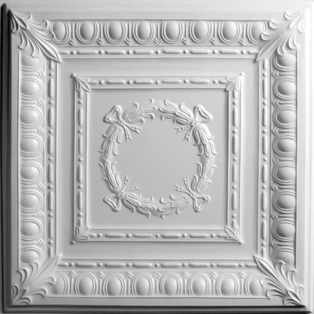 Empire White Ceiling Tile, 2 Feet x 2 Feet Lay-in or Glue up