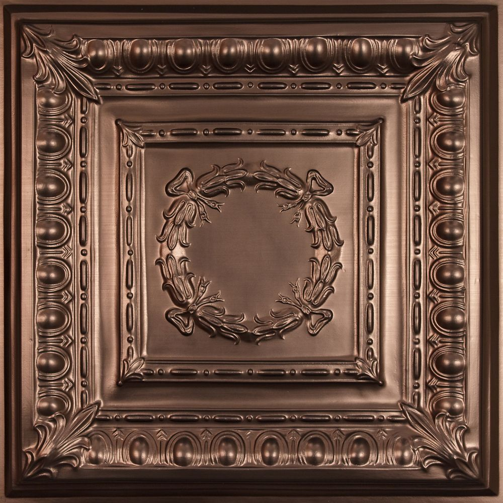 Empire Faux Bronze Ceiling Tile, 2 Feet x 2 Feet Lay-in or Glue up