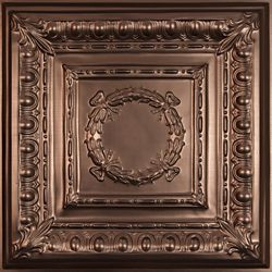 Ceilume Empire Faux Bronze Ceiling Tile, 2 Feet x 2 Feet Lay-in or Glue up